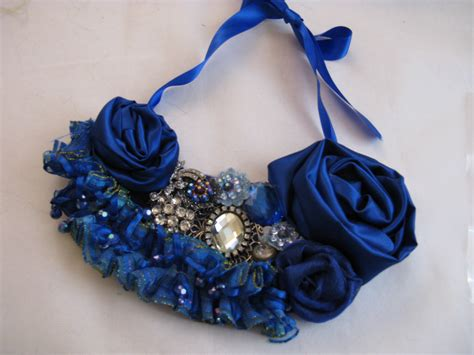 royal blue bib necklace on luulla