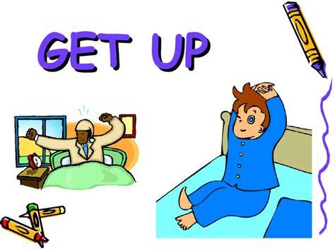 imagenes get up verbos