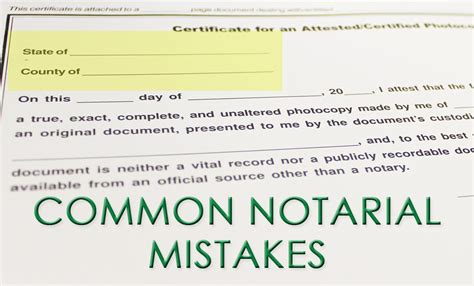 common notary mistakes florida notaries notary