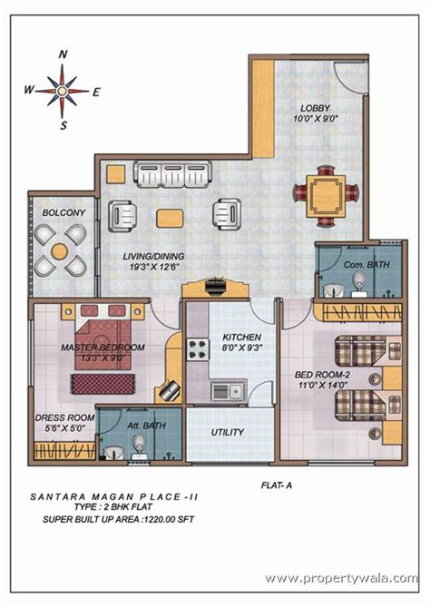 2bhk floor plan santara magan place k r road bangalore apartment