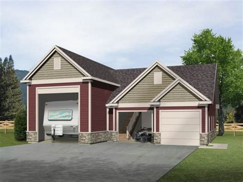 Rv Garage Plans With Apartment by Rv Garage With Two Car Garage And Unfinished Loft Above