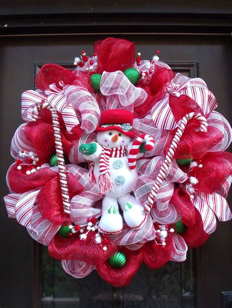 christmas deco mesh wreath christmas wreaths snowman wreath