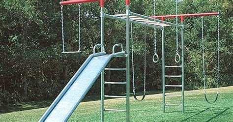 galvanized steel swing sets treasure valley playground equipment and supply