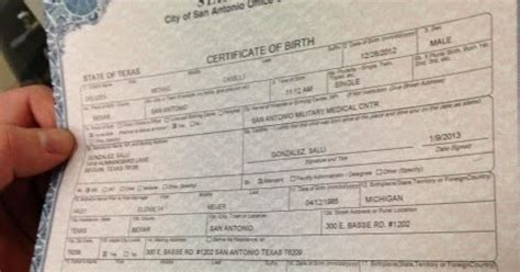 Birth Records San Antonio San Antonio Birth Certificate Get Vital Record