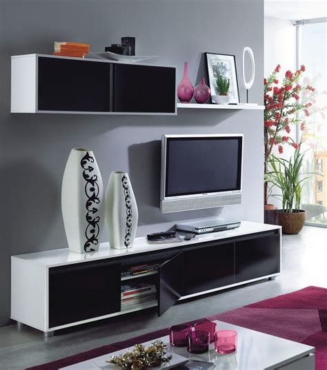 Living Room White Tv Stand Home Est Lena Black White Gloss Living Room Tv Stand Wall