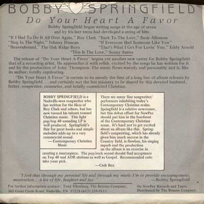 Springfield Records Springfield Bobby Records Lps Vinyl And Cds Musicstack