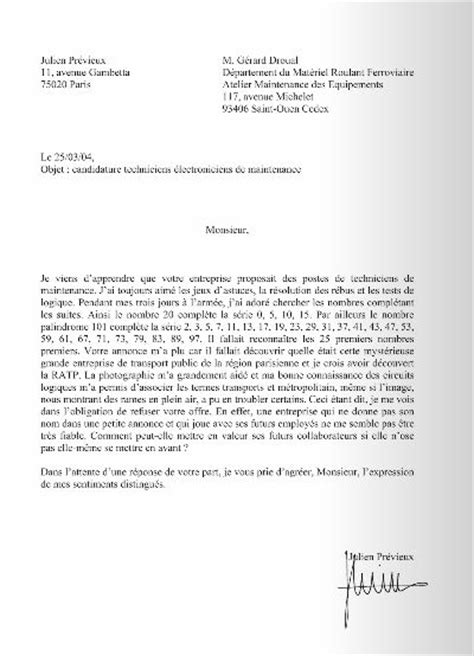 Lettre De Motivation De Stage Non Rémunéré Lettre De Motivation Ratp Employment Application