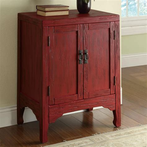 Coaster 950199 Red Wood Accent Cabinet   Steal A Sofa