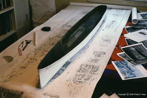 model boat hull construction uss oklahoma city ship model