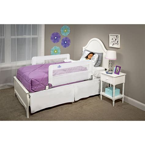 double sided bed rail regalo double sided swing down safety bed rail includes