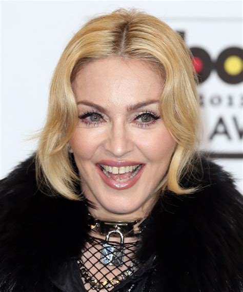 Madonna Updo Long Straight Formal Updo Hairstyle