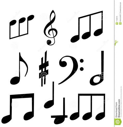 imagenes de simbolos juveniles conjunto de s 237 mbolos musicales ilustraci 243 n del vector