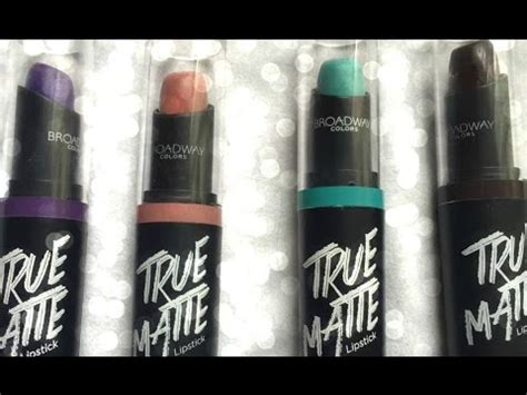 broadway colors dollar store matte lipsticks brand new la colors and