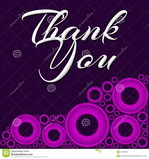 i you ring images thank you pink ring square stock illustration