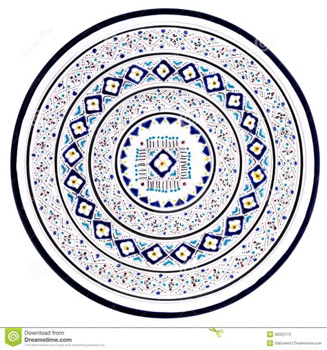 plate patterns tunisian plate with traditional pattern stock photos