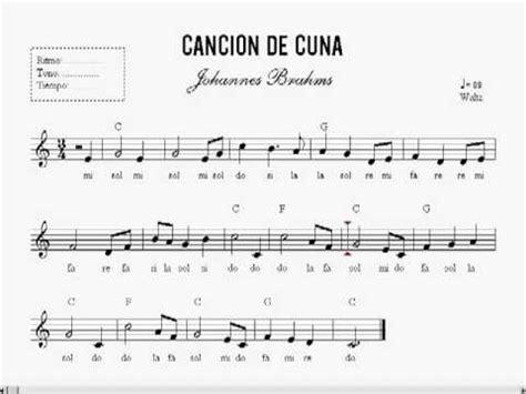 cancion de cuna flauta lecci 211 n 35 partitura cancion de cuna curso de piano en