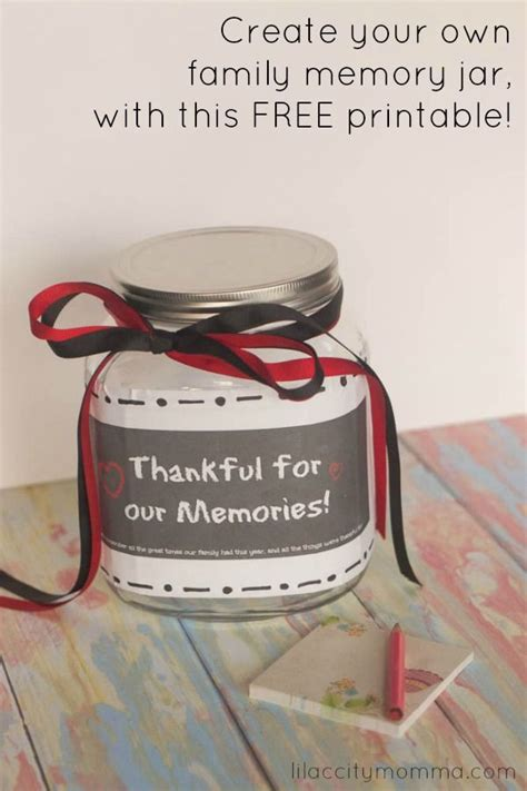 printable memory jar labels create your own family memory jar free printable included