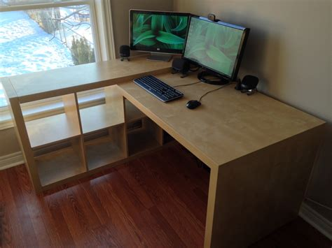 Ikea Office Desk Hack Ikea Expedit Desk Hack Hashtagrandom Pinterest Ikea Expedit Desks And Ikea Hack