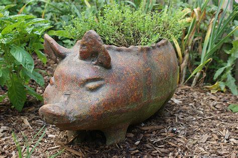 ceramic pig planter flickr photo