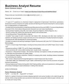 Resume Sle Business Analyst by Business Analyst Resume Template 15 Free Sles Exles Inside Business Analyst Resume