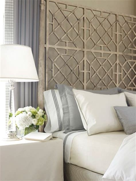 lattice headboard stunning master bedroom with gray paint color lilac