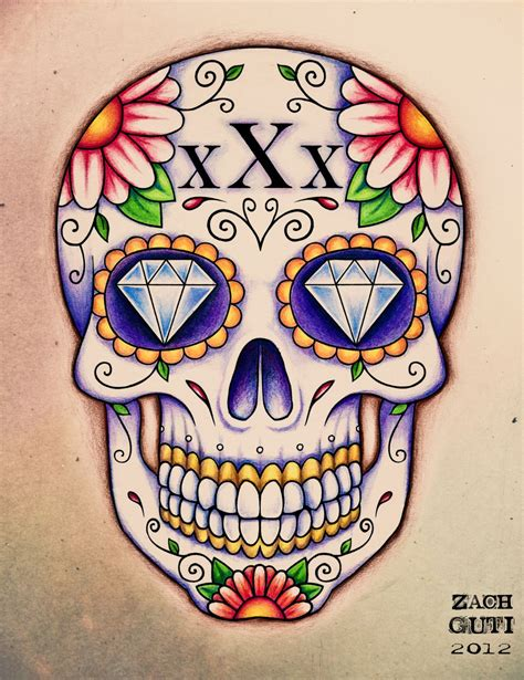 sugar skull tattoo designs tumblr straightedge brain travel