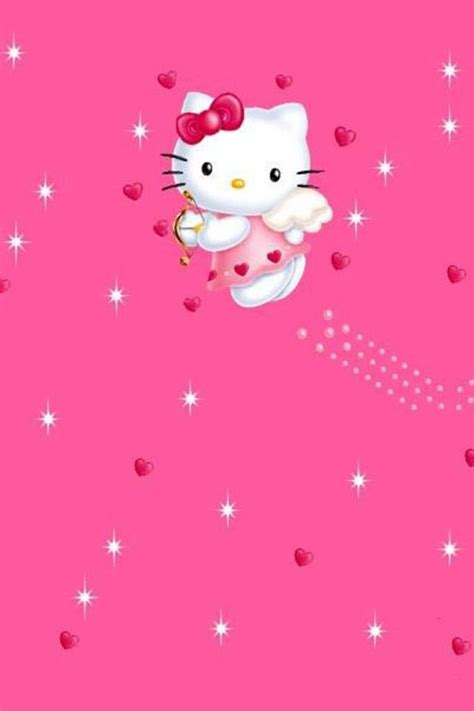 wallpaper hello kitty pink for iphone cute pink iphone wallpapers wallpapersafari