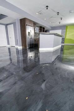 great falls basement grey stained concrete floors gray and white stained