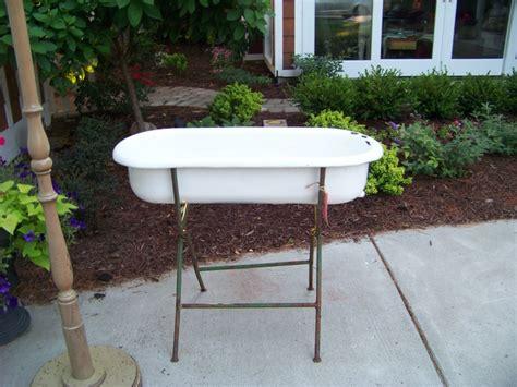 porcelain bathtubs for sale 1 antique porcelain over cast iron baby bath tub on stand