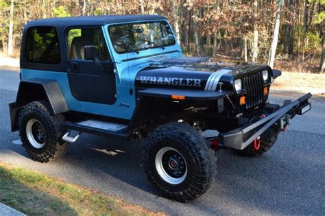 old jeep wrangler 1990 meticulously modified classic 1990 jeep wrangler yj v8