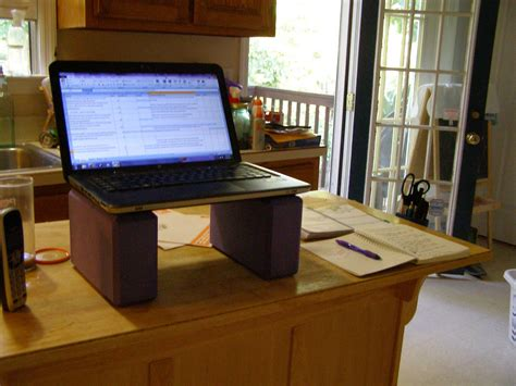 make your own standing desk to create high comfort working