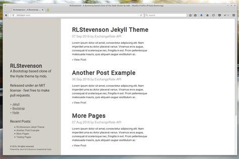 installing bootstrap gem rlstevenson jekyll theme 0 1 0 on rubygems libraries io