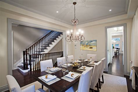 Dazzling parson chairin Dining Room Contemporary with Prepossessing Dark Table Light Chairs next