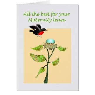 Maternity Leave Card Template by Maternity Leave Cards Zazzle