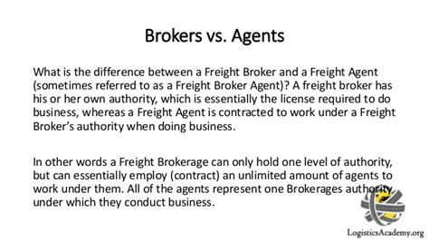 Transportation Broker Description by Description Of Freight Brokers And Freight Agents