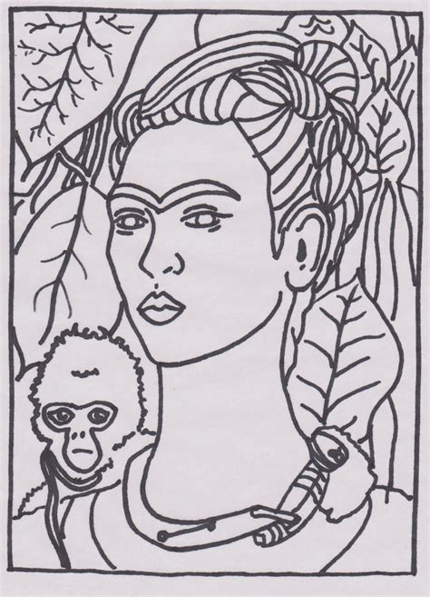 artistic coloring pages frida kahlo coloring pages and print for free