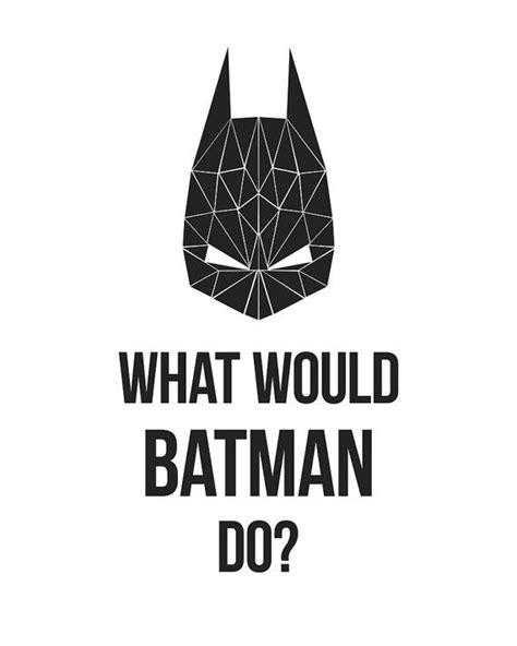 kinderzimmer deko batman what would batman do wall by