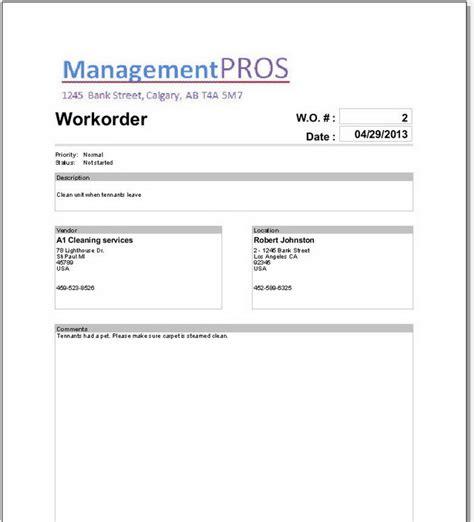 Landlordmax Property Management Software Support Property Management Work Order Template