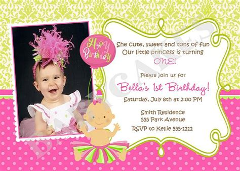 birthday invitation wording and 1st birthday - 1st Birthday Invitation Words