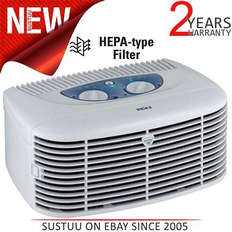 vicks air purifier vicks v9071 hepa filter ionizer type air purifier freshner cleaner light ebay
