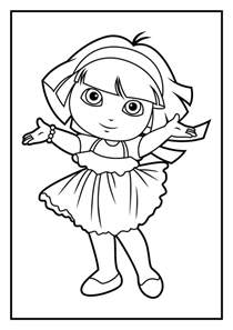 dora coloring pages kids coloring europe travel guides