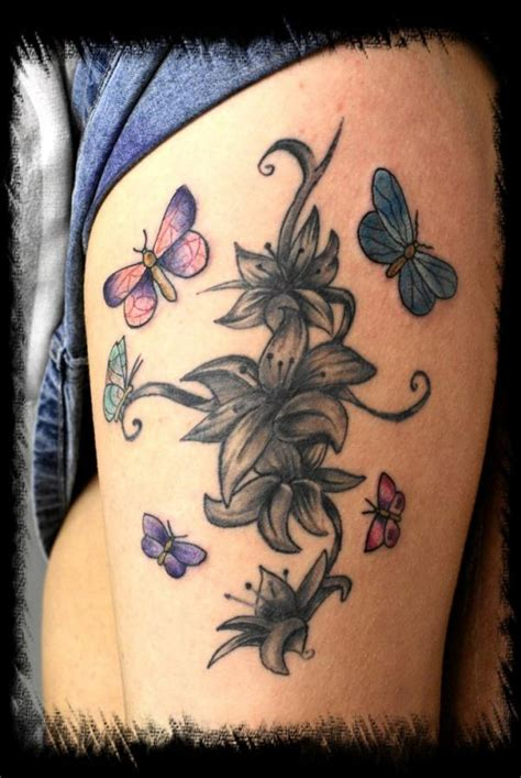 lily and butterfly tattoo designs 38 flower designs pretty designs