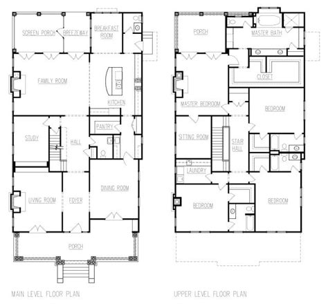 four square house plans american foursquare floor plans google search house