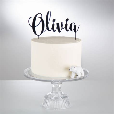 Acrylic Topper For Cake personalised acrylic cake topper by twenty seven notonthehighstreet