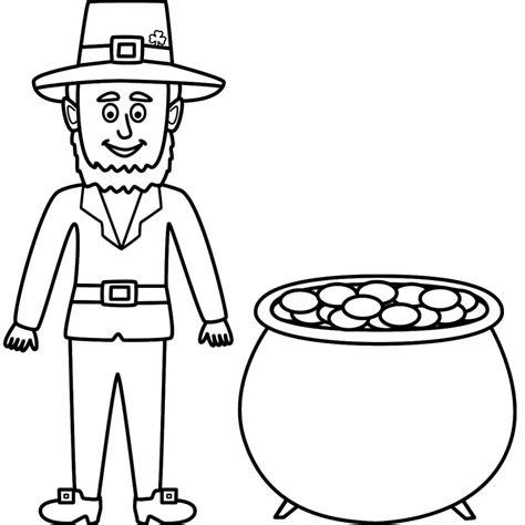 baby leprechaun coloring page leprechaun coloring pages free download wallpapers hd