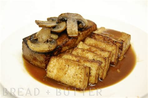 bread butter pan fried tofu