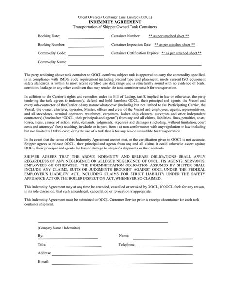 indemnity agreement template cool indemnification agreement template pictures
