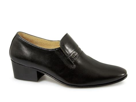 renaissance calais mens leather palin cuban heel shoes
