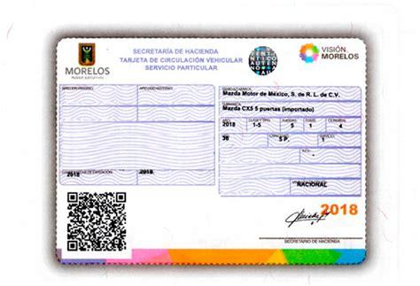 pago de tarjeta de circulacion morelos 2015 pago de refrendo en morelos 191 c 243 mo y donde hacerlo