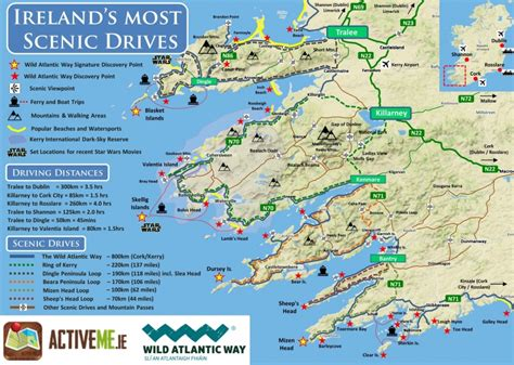 best driving routes ring of kerry scenic drive cycle route map kerry